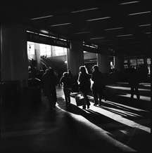 Passengers arrived at the Staten Island ferry terminal in Manhattan as sunshine streamed through the modernised terminal